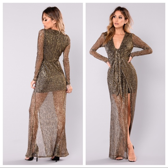 Fashion Nova Beauty Queen Maxi Dress: Cambree Lurex Maxi Dress
